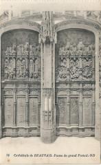 Beauvais-Fr-60-Cpa-cathédrale-grand portail-02 - Beauvais