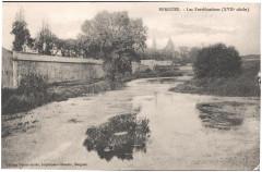 Postcard- Bergues - Les Fortifications (XVIIe siecle), sent April 1915  - Bergues