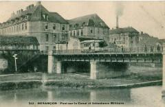 Inconnu - Besancon - Pont sur le Canal et Intendance Militaire - Besançon