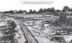 Chantier de Préparation des Poteaux á Blois - Blois