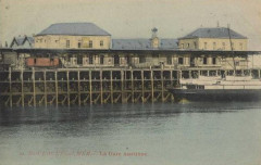 Boulogne gare maritime bateau cpa couleur 62 Saint-Martin-Boulogne