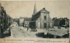 Ll 191 - Boulogne-Sur-Mer - La Place Dalton - L'Eglise Saint-Nicolas - Boulogne-sur-Mer