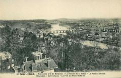 Abeille 38 - Saint-Cloud - Panorama pris de Bellevue - La Boucle de la Seine - Le Pont de SSèvres - Boulogne - Saunt-Cloud - Le Fort du Mont-Valérie 92 Boulogne-Billancourt