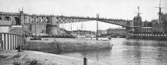 3Fi114-081 1930 - Le pont national fermé restored - Brest