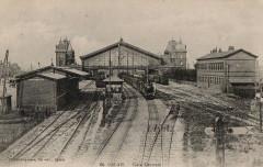 Calais gare cpa faisceauvoies - Calais