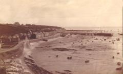 Cancale - Photographie de la houle en 1896 - Cancale