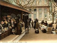Cannes le marché aux fleurs en 1915 - Cannes