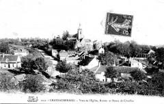 Cp Château-Renard vue église et ruines - Château-Renard
