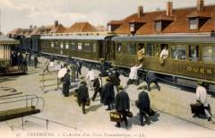 Cherbourg - Arrivée d'un train transatlantique - Cherbourg-en-Cotentin