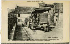 Chateau-Thierry - The Great War - American artillery going to the front  - Château-Thierry