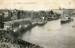 Dieppe gare maritime cpa - Dieppe