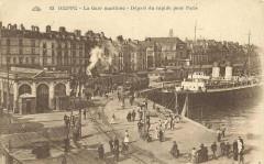 Dieppe gare maritime poissonnerie cpa - Dieppe