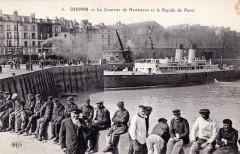 Dieppe. Steamer runs between Dieppe and Newhaven - Dieppe
