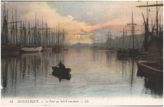 Postcard- Dunkerque - La Port au Soleil couchant, sent May 1915 (6306790583) 59 Dunkerque