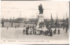 Postcard- Dunkerque - Le Monument Trystram et la Cale des Pecheurs, sent May 1915 (6315656368) 59 Dunkerque