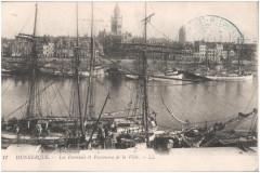 Postcard- Dunkerque - Les Islandais et Panorama de la Ville, sent March 1915 (6267675666) 59 Dunkerque