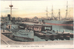 Postcard- Dunkerque - Station de la Defense Mobile  - Dunkerque