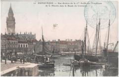 Postcard- Dunkerque - Une division de la 2me flotille des Torpilleurs de la Manche dans le bassin du Commerce.  - Dunkerque