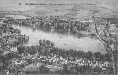 Enghien-les-Bains-Vue panoramique sur le lac - Enghien-les-Bains