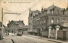 Cad 11 - Eu - Hotel de la Gare et la Gare - Eu