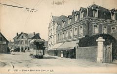 Ll 77 - Eu - Place et Hotel de la Gare - Eu