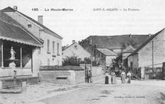 Cp Giey-sur-Aujon La Fontaine - Giey-sur-Aujon