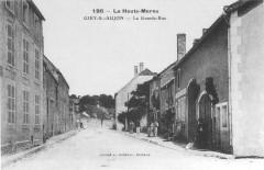 Cp Giey-sur-Aujon La Grande-Rue - Giey-sur-Aujon