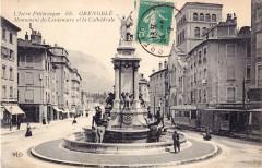 Eld 66 - Grenoble - Monument du Centenaire et la Cathédrale - Grenoble