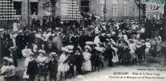 Fête de la Saint-Loup - L'arrivée de la musique sur la place du Centre - Guingamp