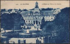 141 Le Havre - L'Hôtel de Ville et le Jardin - Le Havre