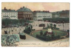 La Place Gambetta et le Théâtre (recto) - Le Havre