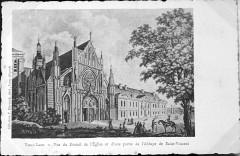 Abbaye & église st vincent laon 09856 - Laon