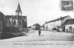Cp Leffonds La Place. L'Eglise. Le Bureau de Poste - Leffonds
