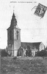 Cp Leffonds Le Clocher en réparations 1910 - Leffonds