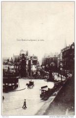 Alfred Grohs Dess. No. 05 Der Bahnhofsplatz in Lille Bildseite - Lille