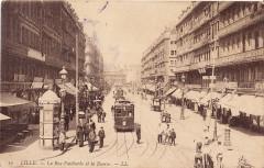 Ll 10 - Lille - La rue Faidherbe et la Bourse - Lille