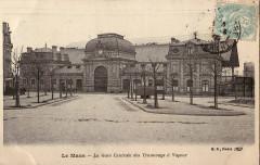 Bf - Le Mans - La Gare centrale des Tramways à Vapeur - Le Mans