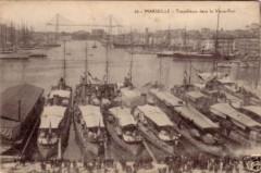 13-Marseille-Torpilleurs dans le Vieux-port-1907 - Marseille