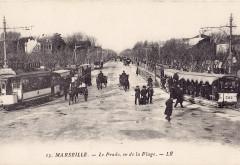 Lr 13 - Marseille - Le Prado, vu de la Plage 13 Marseille