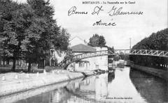 Cp Montargis passerelle sur le canal - Montargis