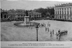 Revue du 20 mars 1919 sur la place Stanislas - Nancy