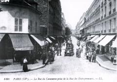 La rue du commerce prise de la rue des entrepreneurs - Paris 15e