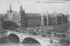 75-Paris-Pont au change et palais de Justice-vers 1900 - Paris 4e