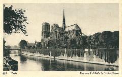 Vue vers l'Abside de Notre-Dame - Paris 5e