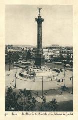 La Place de la Bastille et la Colonne de Juillet - Paris 12e