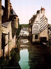 The footbridge of the Steir, Quimper, Brittany, France, ca. 1899 - Quimper