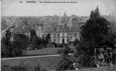 Vue Générale prise du Jardin des Plantes - Rennes