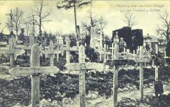 Les tombes des héros guerriers allemands au cimetière de Rethel - Rethel
