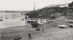 Le port Solidor et la maison de Luis Duchesne, au fond, à Saint-Servan - Saint-Malo