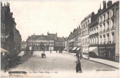 Postcard- St Omer - La Place Victor-Hugo, sent June 1915  - Saint-Omer